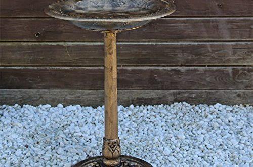 clgarden vogeltraenke vgt3 vogelbad vogel traenke bad mit vogel auf der wasserschale 500x330 - CLGarden Vogeltränke VGT3 Vogelbad Vogel Tränke Bad mit Vogel auf der Wasserschale