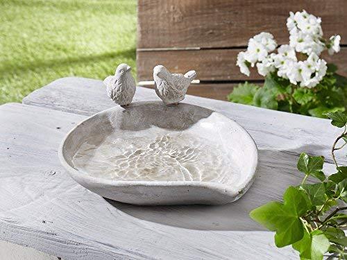 dekoleidenschaft vogeltraenke piepmatz in beton optik grau - Vogeltränke - Wasser für unsere gefiederten Freunde